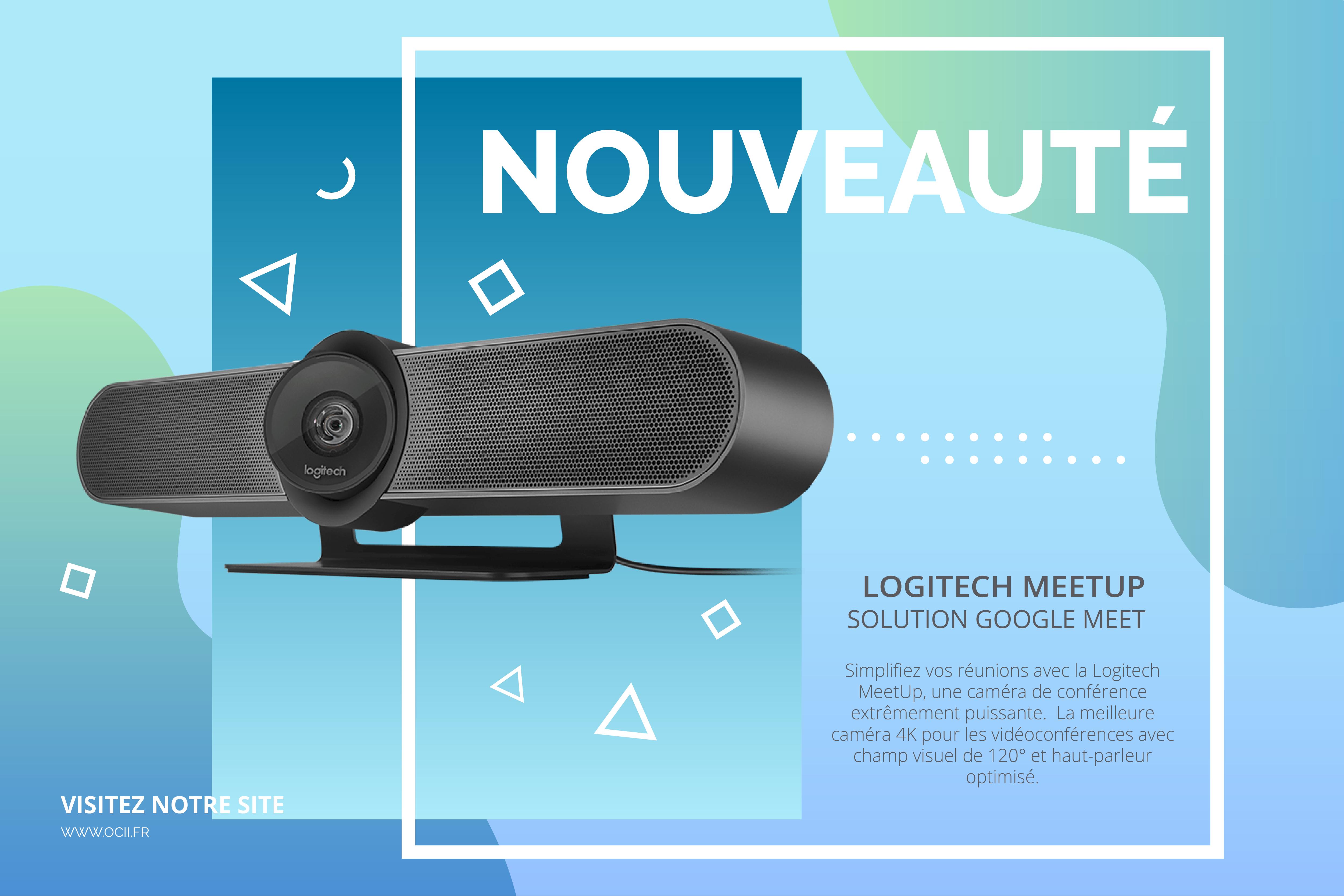 Webcams de visioconférence Logitech MeetUp